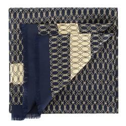 Herrenschal, dunkelblau, 88-7M-S40-X7, Bild 1