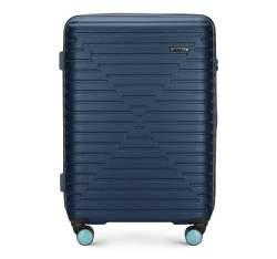 Mittelgroßer Koffer, dunkelblau, 56-3A-452-90, Bild 1