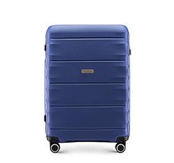 Mittelgroßer Koffer, dunkelblau, 56-3T-762-90, Bild 1