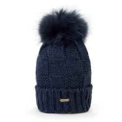 Mütze für Frauen, dunkelblau, 87-HF-006-7, Bild 1