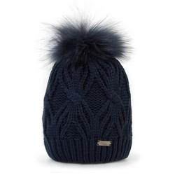 Mütze für Frauen, dunkelblau, 87-HF-017-7, Bild 1