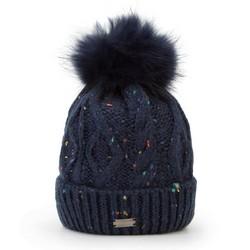 Mütze für Frauen, dunkelblau, 87-HF-029-N, Bild 1