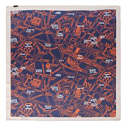 Halstuch für Frauen, dunkelblau - orange, 90-7D-S14-X1, Bild 1