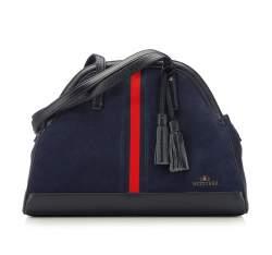 Damen Handtasche, dunkelblau-rot, 87-4E-220-7, Bild 1