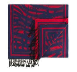 Damen-Schal, dunkelblau-rot, 83-7D-S44-X2, Bild 1