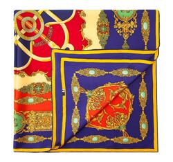 Damentuch, dunkelblau-rot, 84-7D-S21-X03, Bild 1