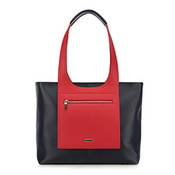 Einkaufstasche, dunkelblau-rot, 90-4Y-552-7, Bild 1