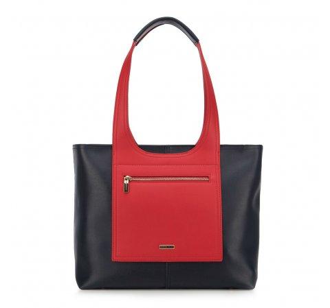 Einkaufstasche, dunkelblau-rot, 90-4Y-552-3, Bild 1