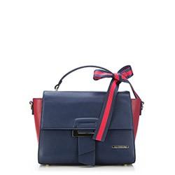 Handtasche, dunkelblau-rot, 87-4Y-407-7, Bild 1