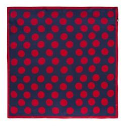 KLEINES SEIDENTUCH FÜR DAMEN, dunkelblau-rot, 91-7D-S14-X14, Bild 1