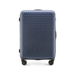 Mittelgroßer Koffer, dunkelblau-rot, 56-3A-412-90, Bild 1