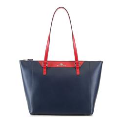 Shopper-Tasche, dunkelblau-rot, 88-4E-401-7, Bild 1