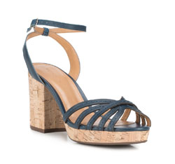 Sandalen für Damen, dunkelblau, 88-D-708-7-37, Bild 1