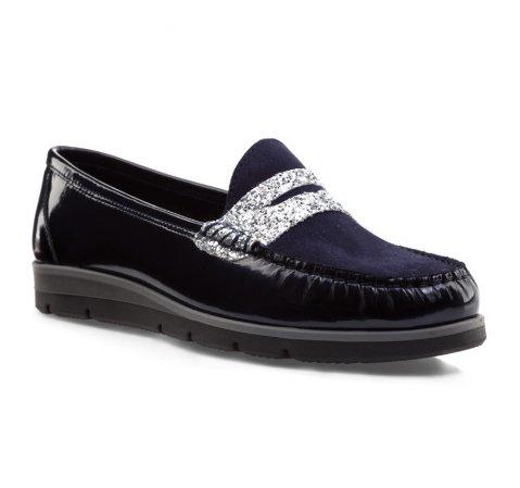 Schuhe, dunkelblau, 85-D-350-7-35, Bild 1