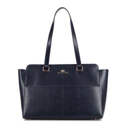 Shopper-Tasche, dunkelblau, 87-4-333-N, Bild 1