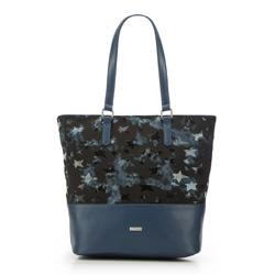 Einkaufstasche, dunkelblau-schwarz, 87-4Y-564-N, Bild 1