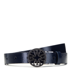 DAMENGÜRTEL AUS LEDER, dunkelblau-schwarz, 91-8D-302-7-XL, Bild 1