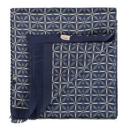 Herrenschal, dunkelblau-weiß, 88-7M-S41-X2, Bild 1