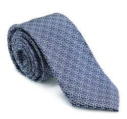 Krawatte, dunkelblau-weiß, 82-7K-004-7, Bild 1