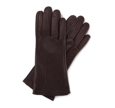 Damenhandschuhe, dunkelbraun, 39-6-225-B-V, Bild 1