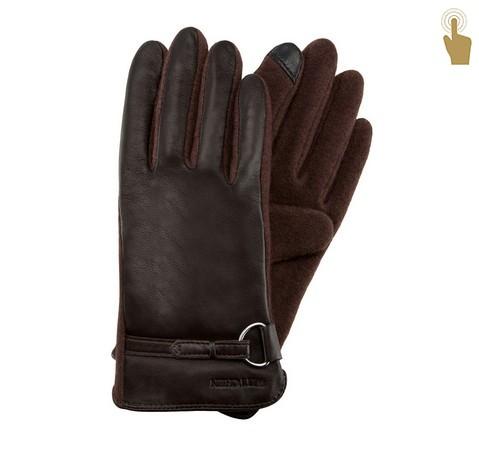 Damenhandschuhe, dunkelbraun, 45-6-275-B-V, Bild 1