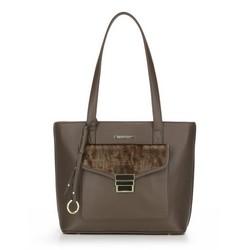 Einkaufstasche, dunkelbraun, 87-4Y-419-4, Bild 1