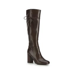 Kniehohe Stiefel für Damen, dunkelbraun, 87-D-902-4-35, Bild 1