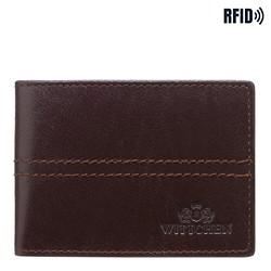 Kartenetui aus Leder mit Nähten, dunkelbraun, 14-2-118-L4, Bild 1