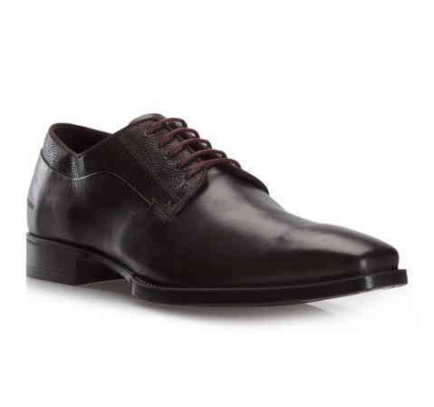 Männer Schuhe, dunkelbraun, 79-M-083-4-46, Bild 1