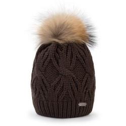 Mütze für Frauen, dunkelbraun, 87-HF-017-4, Bild 1
