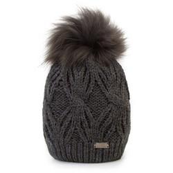 Mütze für Frauen, dunkelgrau, 87-HF-017-8, Bild 1
