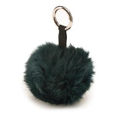 Schlüsselanhänger, dunkelgrün, 85-2F-200-Z, Bild 1