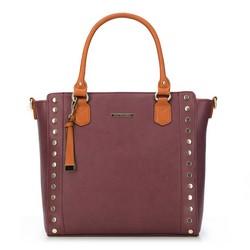 Einkaufstasche, dunkelrot - braun, 87-4Y-402-3, Bild 1