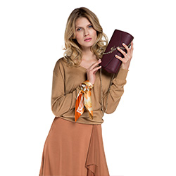 Damentasche, dunkelrot, 86-4E-454-2, Bild 1