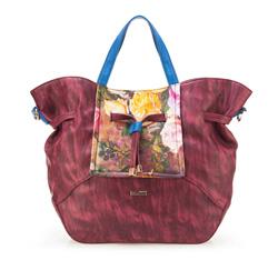 Einkaufstasche, dunkelrot, 85-4Y-504-2, Bild 1