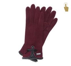 Handschuhe für Frauen, dunkelrot, 47-6-104-2T-U, Bild 1