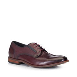 Männer Schuhe, dunkelrot, 88-M-503-2-39, Bild 1