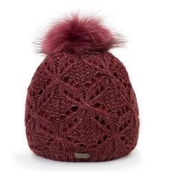 Mütze für Frauen, dunkelrot, 87-HF-004-2, Bild 1