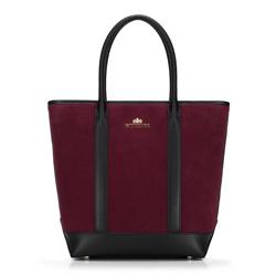 Einkaufstasche, dunkelrot-schwarz, 89-4E-405-2, Bild 1