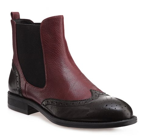 Schuhe, dunkelrot-schwarz, 85-D-903-2-37, Bild 1