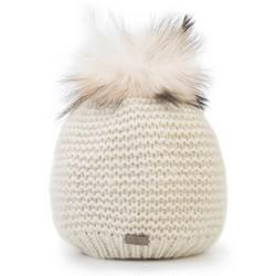 Dámská čepice, ecru, 89-HF-021-0, Obrázek 1