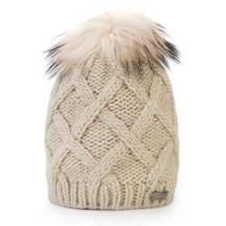 Mütze für Frauen, ecru, 87-HF-020-0, Bild 1