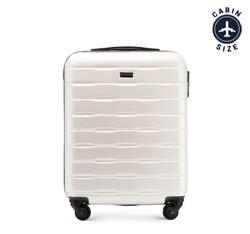 Рифленый чемодан ручная кладь из ABS - пластика, экрю, 56-3A-381-88, Фотография 1