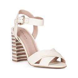 Обувь женская, экрю, 88-D-557-0-40, Фотография 1
