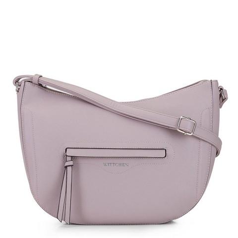 Tasche in Halbmond-Form in Lavendel