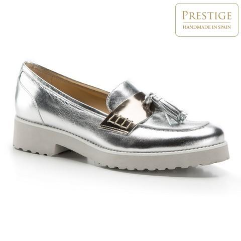 Női cipő, ezüst, 86-D-101-G-38, Fénykép 1