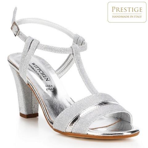 Női cipő, ezüst, 88-D-401-S-36, Fénykép 1