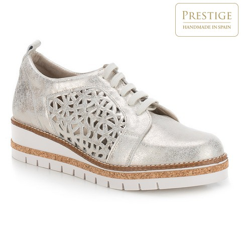 Női cipő, ezüst, 88-D-456-S-41, Fénykép 1