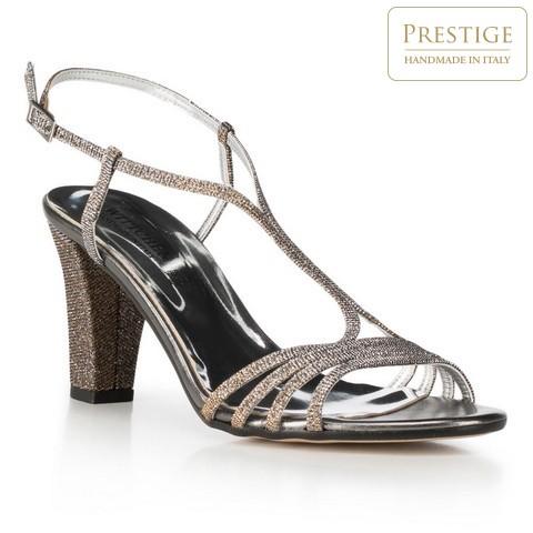 Női cipő, ezüst, 90-D-402-S-41, Fénykép 1
