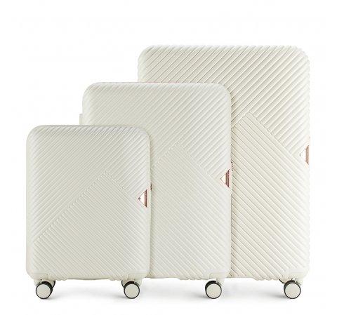 Bőröndszettek, fehér, 56-3P-84S-10, Fénykép 1